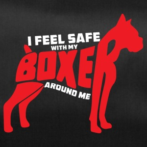 Hund / Boxer: I feel safe with my Boxer around me - Sporttasche
