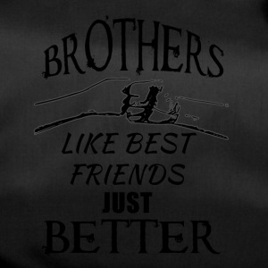 Brothers better than best friends black - Sporttasche
