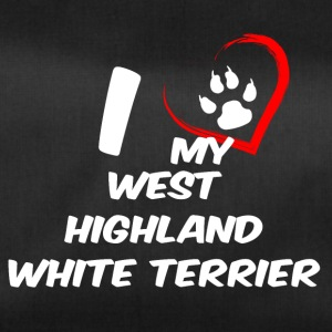 i love my west highland white terrier - Duffel Bag
