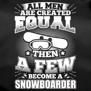 Funny Snowboard Snowboarding Shirt All Men Equal - Sporttasche