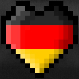 Pixel heart Germany flag - Duffel Bag