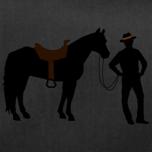 Cowboy with horse - Duffel Bag