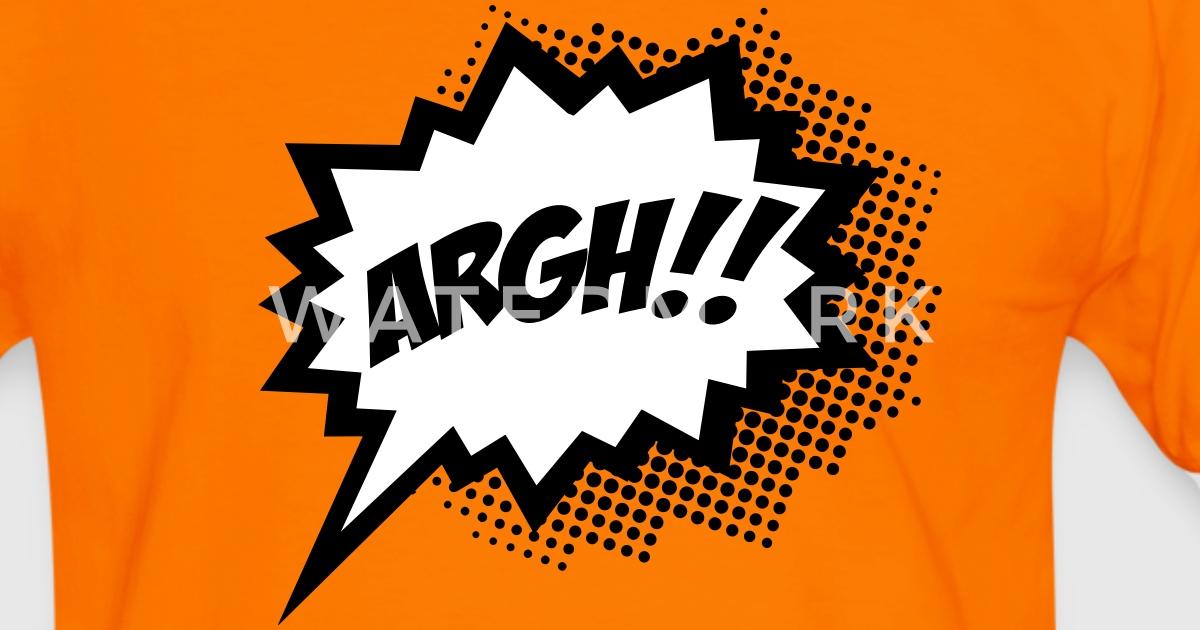 comic argh spr che cartoon sprechblase fun von hero style spreadshirt. Black Bedroom Furniture Sets. Home Design Ideas