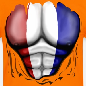 Holland Flag Ripped Muscles, six pack, chest t-shirt