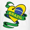 Brazil heart design - Men's Ringer Shirt