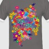 NEW FLOWER POWER RAINBOW - feelin' groovy - Männer Kontrast-T-Shirt