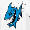 blue shark - Männer Kontrast-T-Shirt