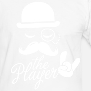 Fashionable retro gentleman player with moustache rock sports victory bachelor poker