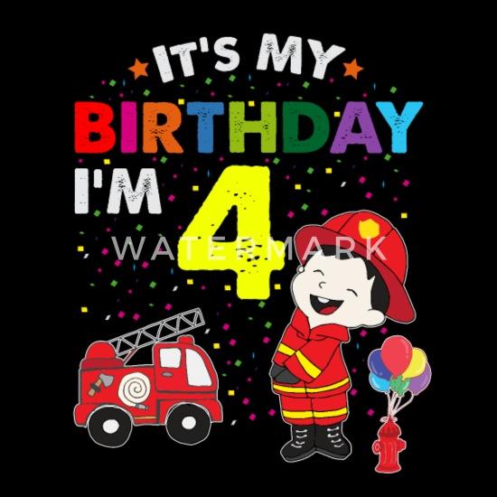 Verrassend Brandbestrijders verjaardag kinder T-shirt 4 jaar jongen Kinderen OZ-98