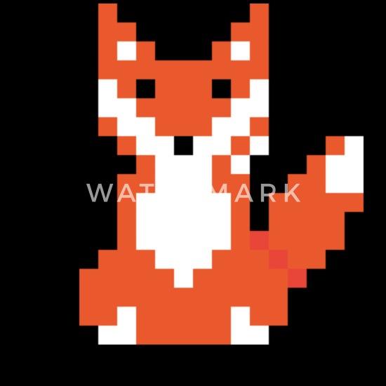 Red Fox Pixel Art Sweat à Capuche Premium Enfant Spreadshirt