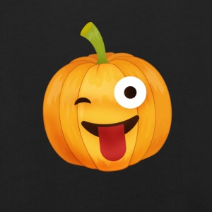 Halloween pumpa emoticon smileys Face tunga mun - Premium-Luvtröja barn