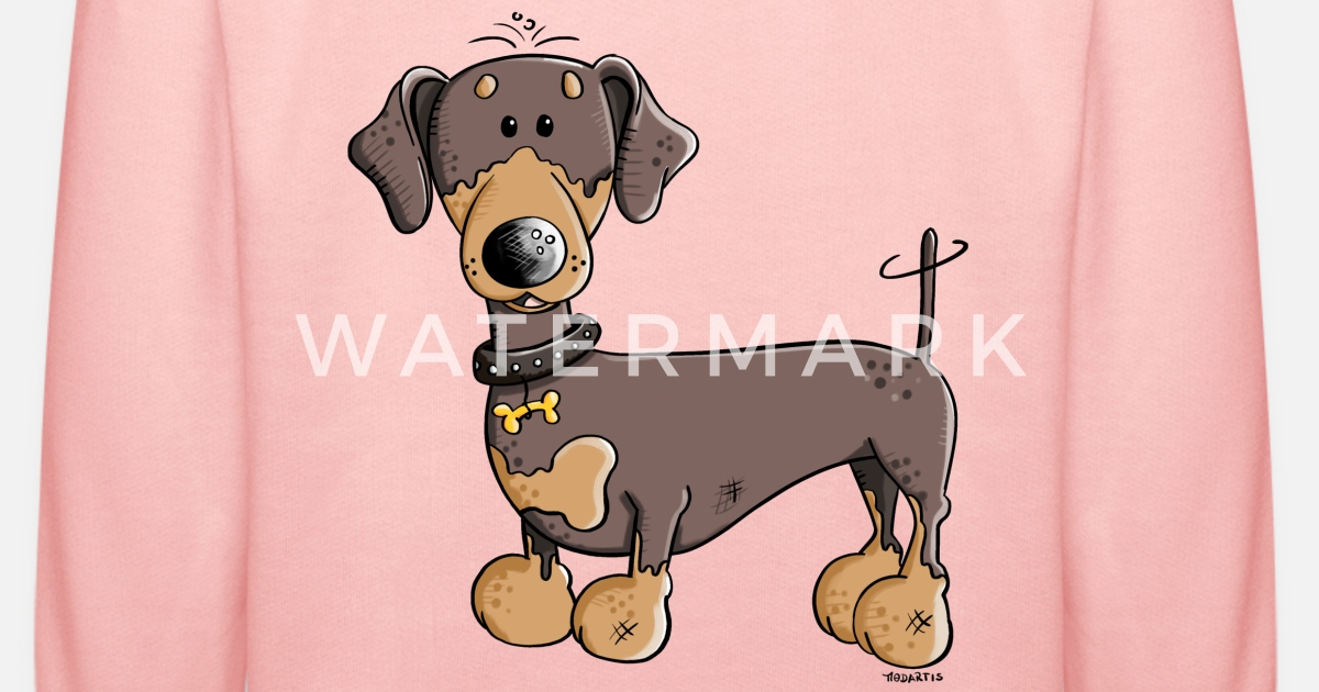 Felpa con cappuccio Dachshund Doxie Wiener Dog on a Bun