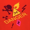 caution flammable and deadly danger - Felpa con cappuccio Premium per bambini