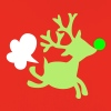 rudolph the red nosed reindeer with a fart - Premium Barne-hettegenser