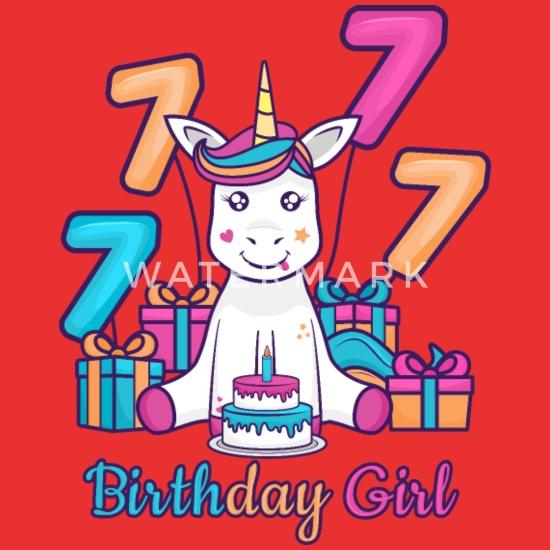 7 Geburtstag Einhorn Geschenk Für Mädchen Tochter Kinder