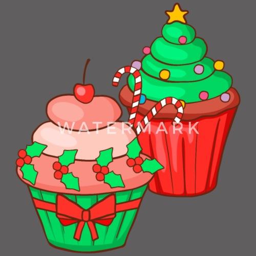 Weihnachten Cupcake Muffin Kuchen Backen Kinder Premium Hoodie