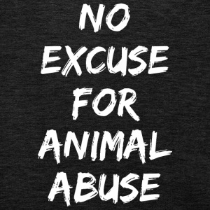 NO EXCUSE FOR ANIMAL ABUSE - Kids' Premium Hoodie