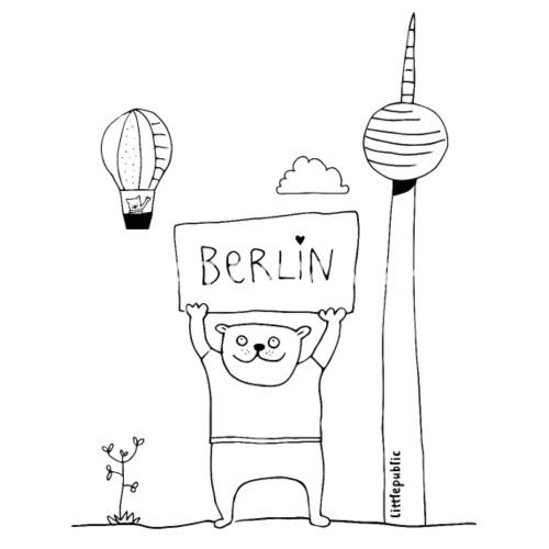 Berliner Bär Zum Ausmalen Littlepublic Baby T Shirt Spreadshirt