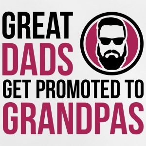 Great Dads Get Promoted To Grandpa's Father's Day - Baby T-Shirt