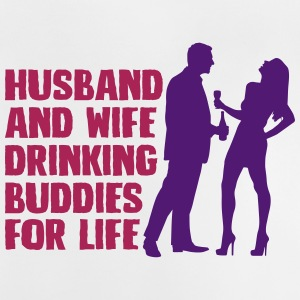 Husband And Wife Drinking - Baby T-Shirt