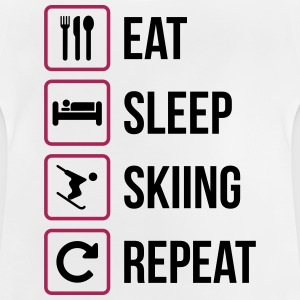 Eat Sleep Skidåkning Repeat - Baby-T-shirt