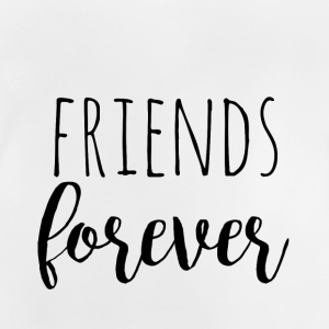 Friends Forever - sort design for tvillinger - Baby-T-skjorte