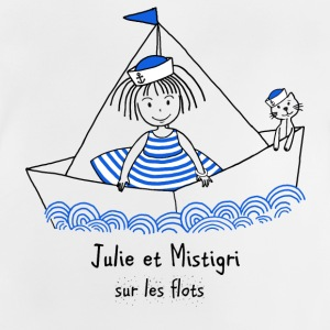 Julie and Mistigri on the waves - Baby T-Shirt