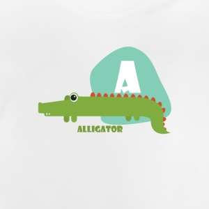 A for Alligator - Baby-T-skjorte