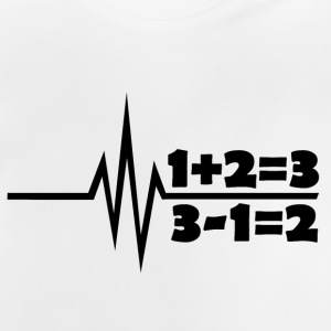 My heart beats for math school teachers - Baby T-Shirt