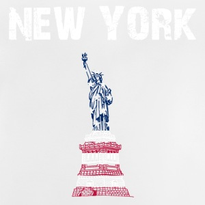 Ontwerp van de Stad New York Liberty - Baby T-shirt