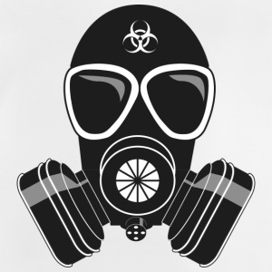 gas mask - Baby-T-shirt