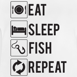 Pesca / pescador: Eat, Sleep, pescado, Repetir - Camiseta bebé