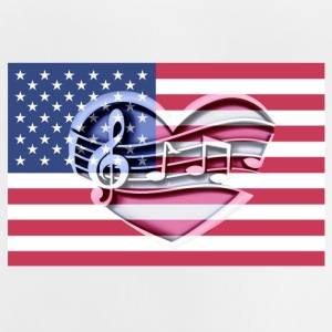 American flag music notes Patriot patriots - Baby T-Shirt