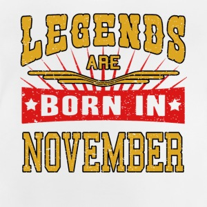 Legends föds i november legender tröja - Baby-T-shirt