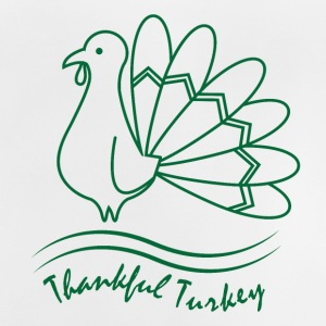 Thankful Turkey Thanksgiving Erntedank Feiertag - Baby T-Shirt