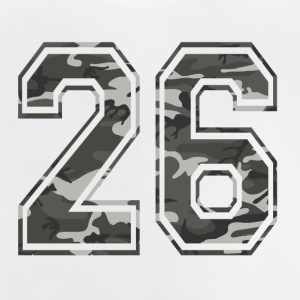 Zahlen Camouflage Paintball Bundeswehr 26 - Baby T-Shirt