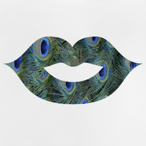 Lipstick / mouth / kiss mouth: peacock feathers - Baby T-Shirt