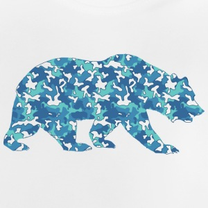 BEAR Flecktarn BLUE - Baby T-shirt