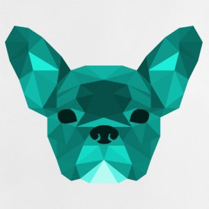 Low Poly Frenchie cyan - Baby-T-skjorte