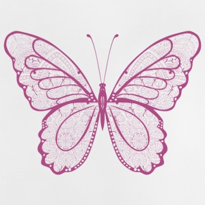 Butterfly in pink, hand drawn - Baby T-Shirt