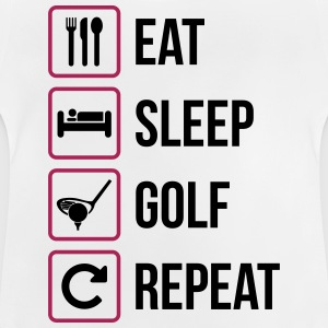 Eat Sleep Golf Gentag - Baby T-shirt