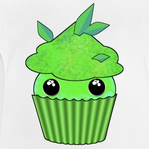 Green Kawaii Cupcake - Baby T-shirt