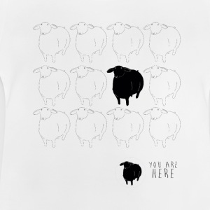 black-sheep-4000-4000-png - Camiseta bebé