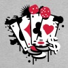 Card game hearts, spades, diamonds, clubs with dice and tokens - Maglietta per neonato