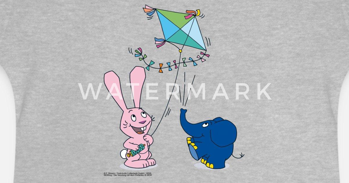 elefant und hase  drachen baby tshirt  spreadshirt