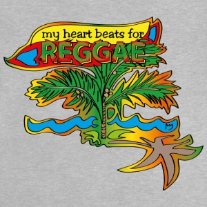 My heart beats for reggae - Baby T-Shirt