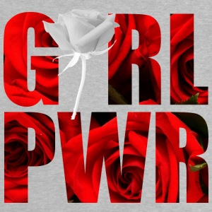 Girl Power White Rose - Maglietta per neonato