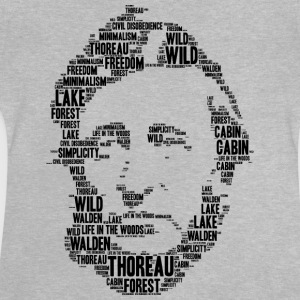 thoreau stencil word cloud - Baby T-Shirt