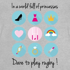 In a world full of princesses-Dare to play rugby ! - T-shirt Bébé