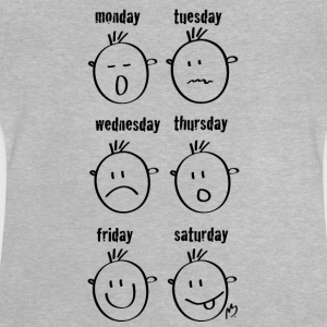 Weekdays Smilies - Baby T-Shirt